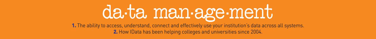 Data Management for Higher Education